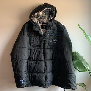 Carolina Panthers NFL Winter Puffer Jacket Sz 3XL